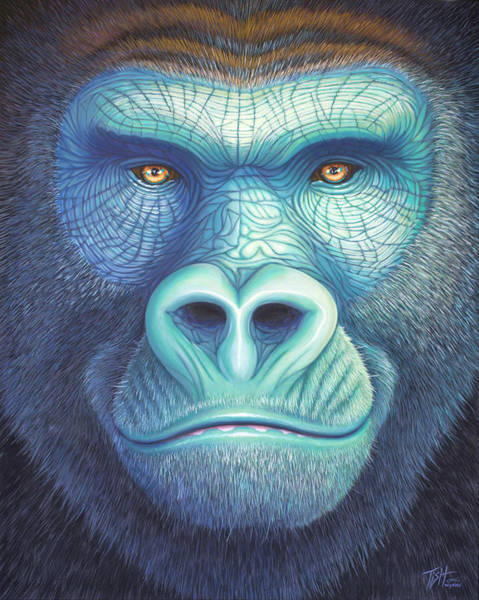 Painting - Gorilla Face by Tish Wynne