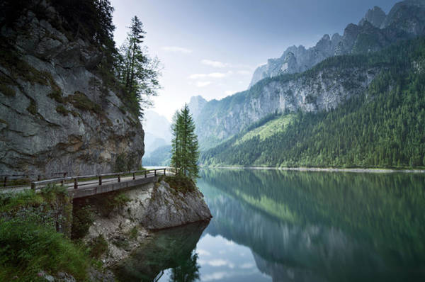 Symmetry Photograph - Gosausee, Salzkammergut, Upper Austria by Daitozen