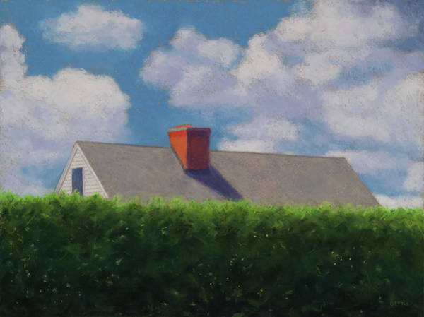 Pastel - Goshen Rooftop by Jeff Gettis