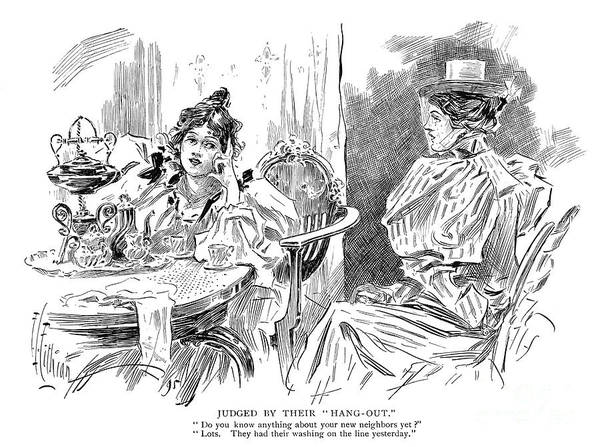 Wall Art - Drawing - Gossip, 1895 by Granger