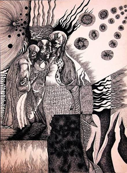 Land Mark Drawing - Gossip by Artur Durgaryan