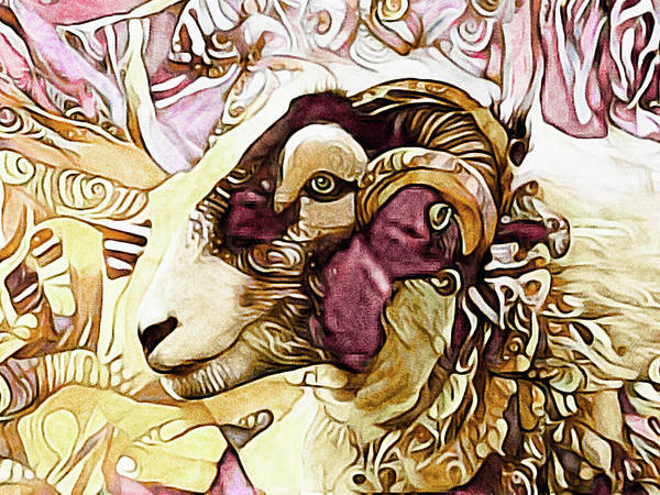 Mixed Media - Got His Eye On Ewe by Susan Maxwell Schmidt