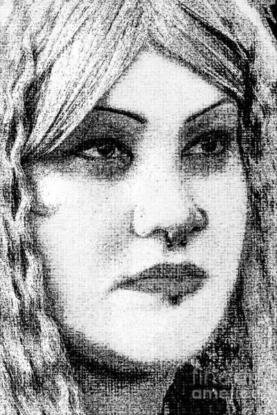 Goth Headshot Art Print