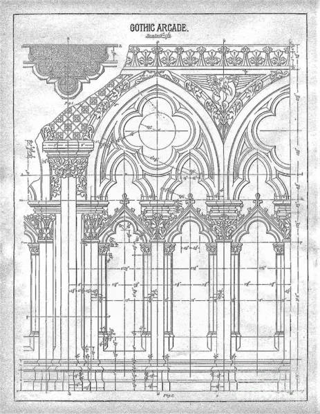 Drawing - Gothic Arches by James Fannin