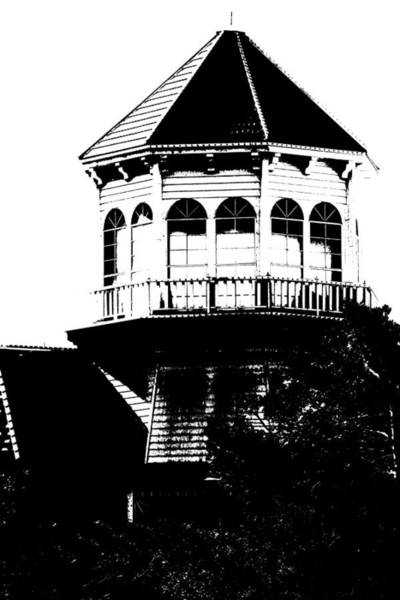 Photograph - Gothic Building In Black And White by Colleen Cornelius