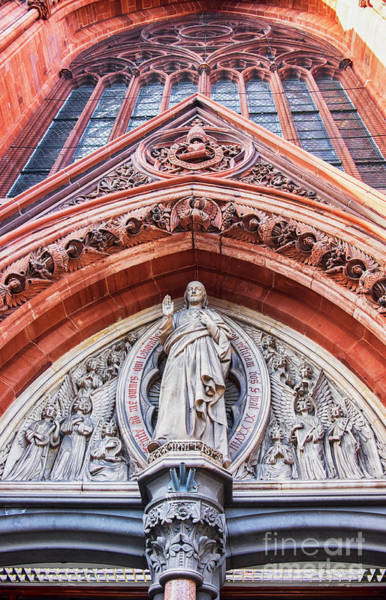 Photograph - Gothic Relief Sculpture On Church by Ariadna De Raadt