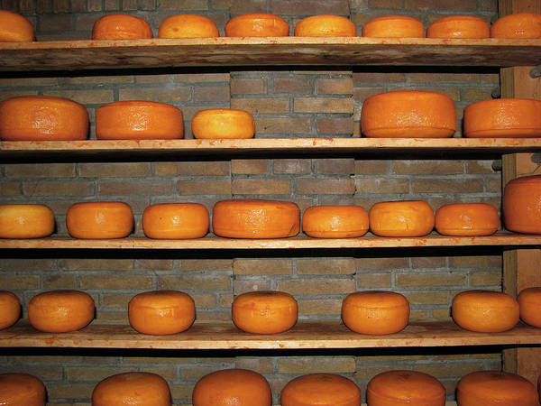Messier Object Photograph - Gouda Cheese Maturing On Shelves by Anik Messier