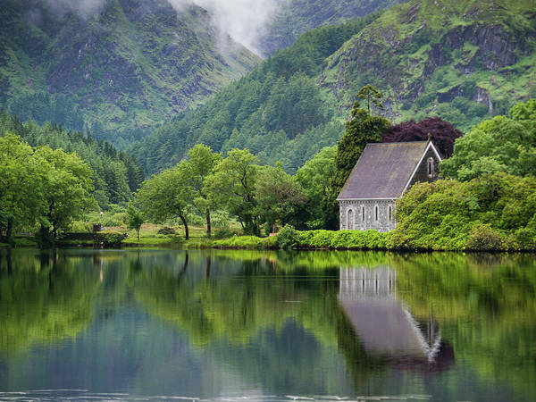 Church Photograph - Gougane Barra Forest Park And Lake by Bradley L. Cox