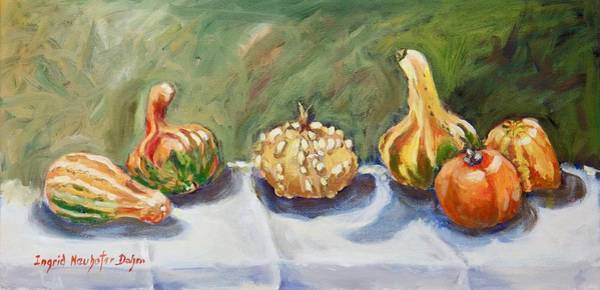 Painting - Gourds II by Ingrid Dohm