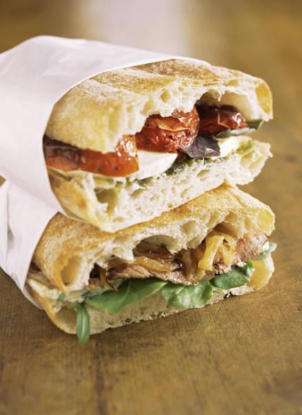 Delicatessen Photograph - Gourmet Sandwiches by Jennifer Cheung