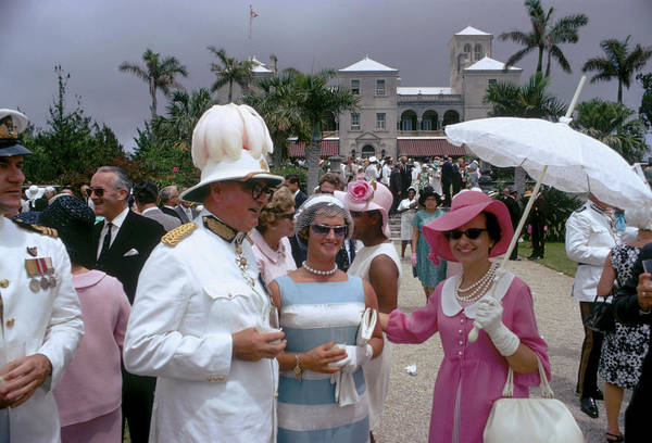 Queen Photograph - Government Party by Slim Aarons