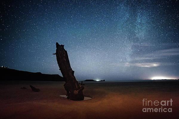 Photograph - Gower Helvetia At Night  by Minolta D