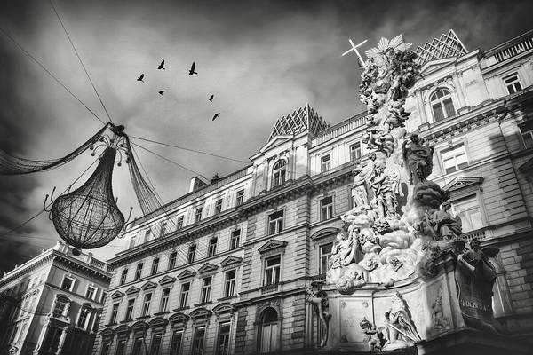 Vienna Photograph - Graben Vienna Austria Black And White  by Carol Japp