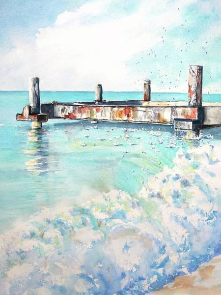 Painting - Grace Bay Old Dock by Carlin Blahnik CarlinArtWatercolor