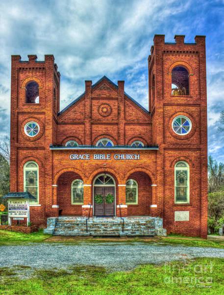 Photograph - Grace Bible Church Buckhead Georgia Morgan County Art by Reid Callaway