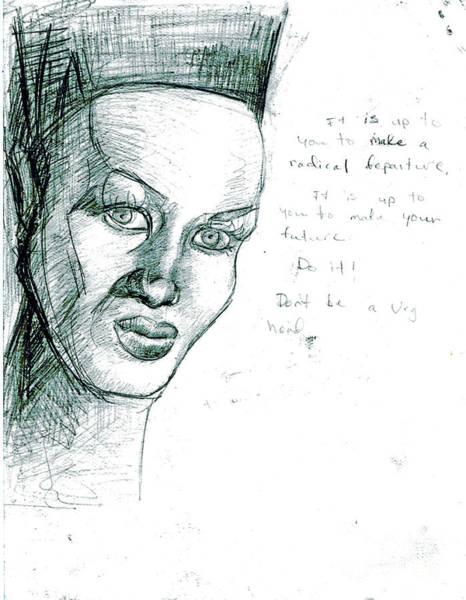 Rocker Painting - Grace Jones by Genevieve Esson