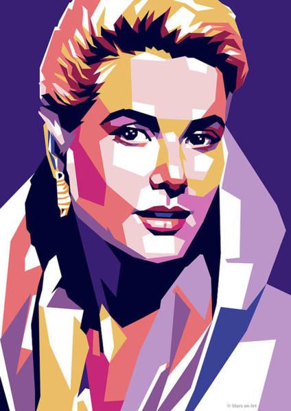 Grace Wall Art - Digital Art - Grace Kelly Pop Art by Stars-on- Art