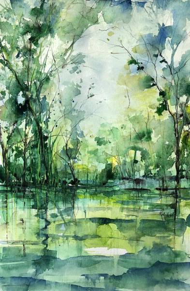 Painting - Grace On The Green River by Robin Miller-Bookhout