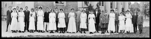 Wall Art - Photograph - Graduates, Chevy Chase Seminary, Dr by Fred Schutz Collection