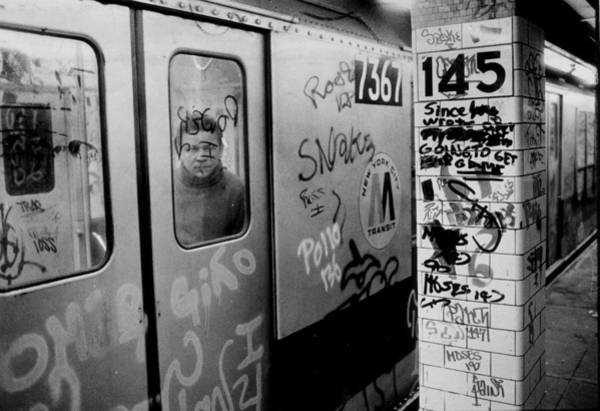 Usa Photograph - Graffiti Covers Platform And Subway At by New York Daily News Archive