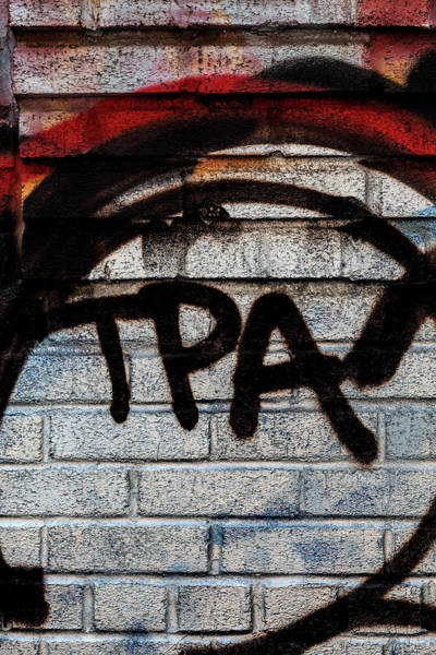Photograph - Graffiti On Brick Wall Nyc by Robert Ullmann