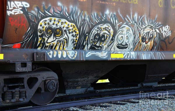 Wall Art - Photograph - Graffiti On The Rails 2 by Bob Christopher