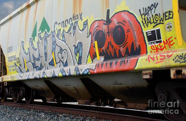 Wall Art - Photograph - Graffiti On The Rails 8 by Bob Christopher