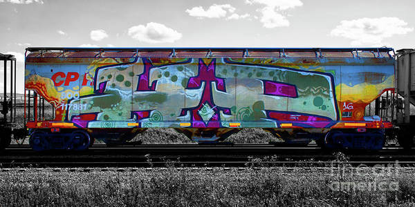 Wall Art - Photograph - Graffiti On The Rails by Bob Christopher
