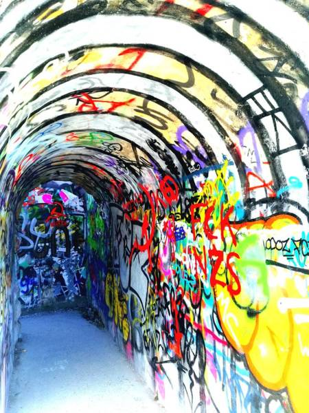 Photograph - Graffiti Tunnel by Monique Wegmueller