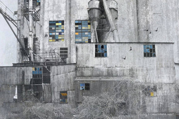Wall Art - Photograph - Grain Elevator North Kansas City by R christopher Vest