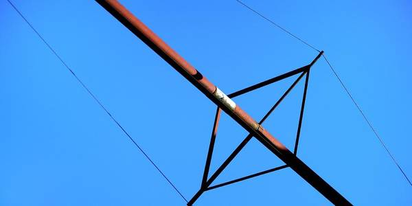Photograph - Grain Pipe Guy-wires by Jerry Sodorff