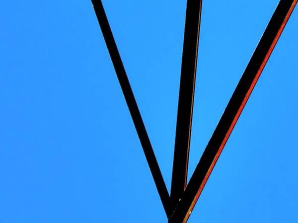 Photograph - Grain Pipe Struts by Jerry Sodorff