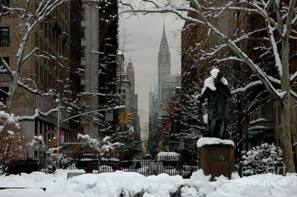 Wall Art - Photograph - Gramercy Park, Snow, Nyc by Anthony Butera