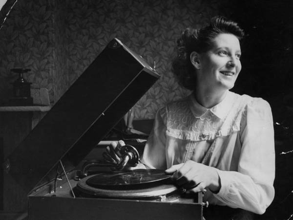 Content Photograph - Gramophone Girl by Haywood Magee