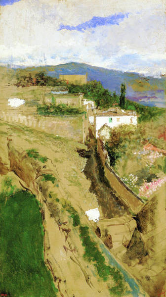 Wall Art - Painting - Granada Landscape - Digital Remastered Edition by Mariano Fortuny