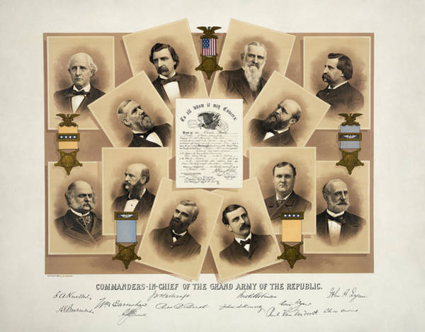 Wall Art - Mixed Media - Grand Army Of The Republic - Union Veteran Fraternal Order by War Is Hell Store