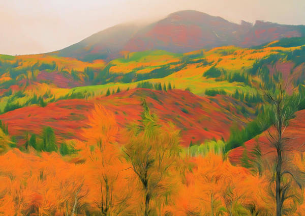 Wall Art - Painting - Grand Autumn View by Dan Sproul
