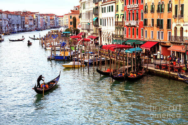 Photograph - Grand Canal Colors In Venice by John Rizzuto