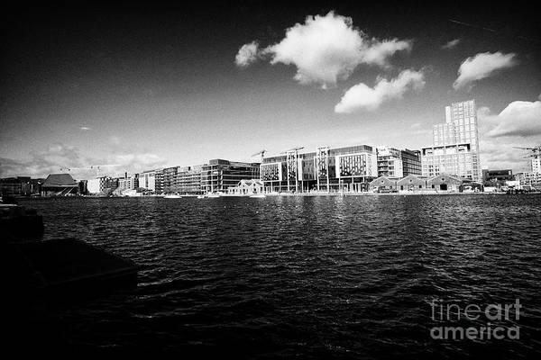 Wall Art - Photograph - grand canal docks and hanover quay Dublin republic of Ireland by Joe Fox