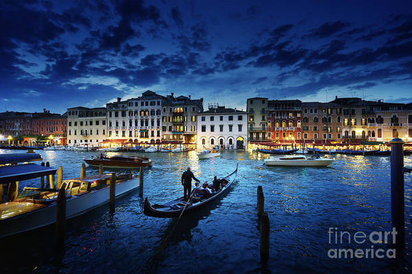 Landmark Building Photograph - Grand Canal In Sunset Time, Venice by Iakov Kalinin