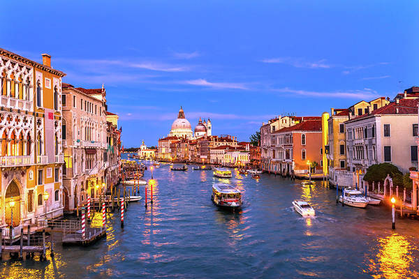 Wall Art - Photograph - Grand Canal, Santa Maria Della Salute by William Perry