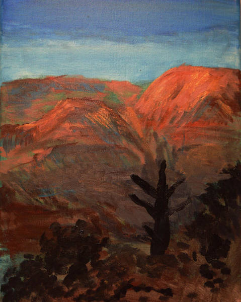 Painting - Grand Canyon And Lone Tree At Twilight by Chance Kafka
