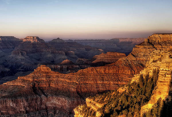 Mather Point Photograph - Grand Canyon At Sunset From Mather Point by Wolfgang steiner