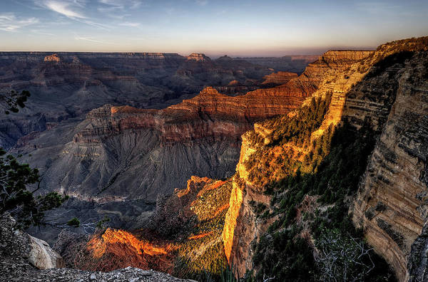 Mather Point Photograph - Grand Canyon At Sunset by Wolfgang steiner