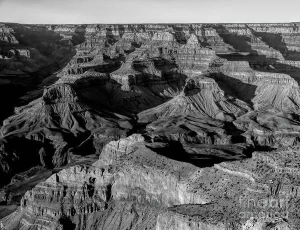 Wall Art - Photograph - Grand Canyon Black White I by Chuck Kuhn