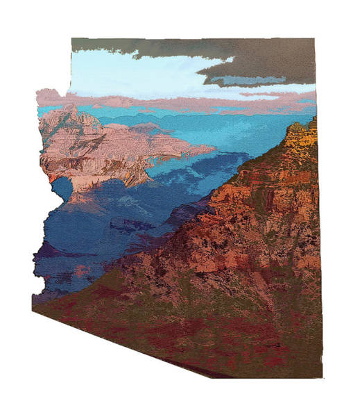 Grand Canyon In The Shape Of Arizona Art Print