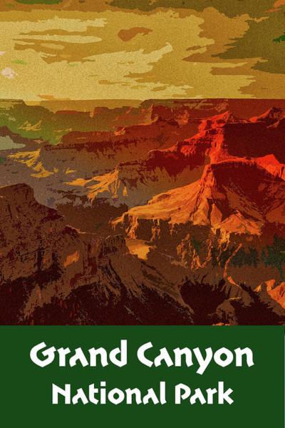 Digital Art - Grand Canyon National Park by Chuck Mountain