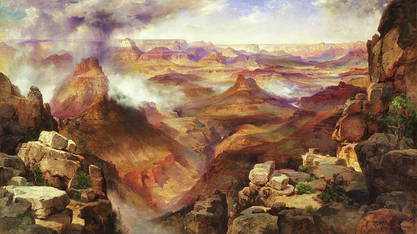 Wall Art - Painting - Grand Canyon Of The Colorado River - Digital Remastered Edition by Thomas Moran