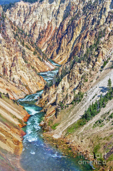 Yellowstone Canyon Photograph - Grand Canyon Of Yellowstone by Delphimages Photo Creations