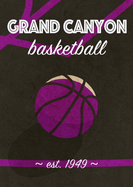 Wall Art - Mixed Media - Grand Canyon University Retro College Basketball Team Poster by Design Turnpike